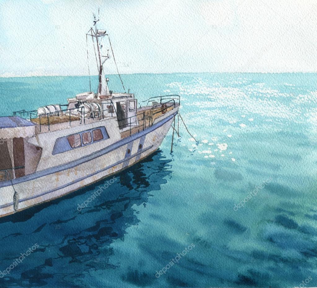 Морской пейзаж с лодки