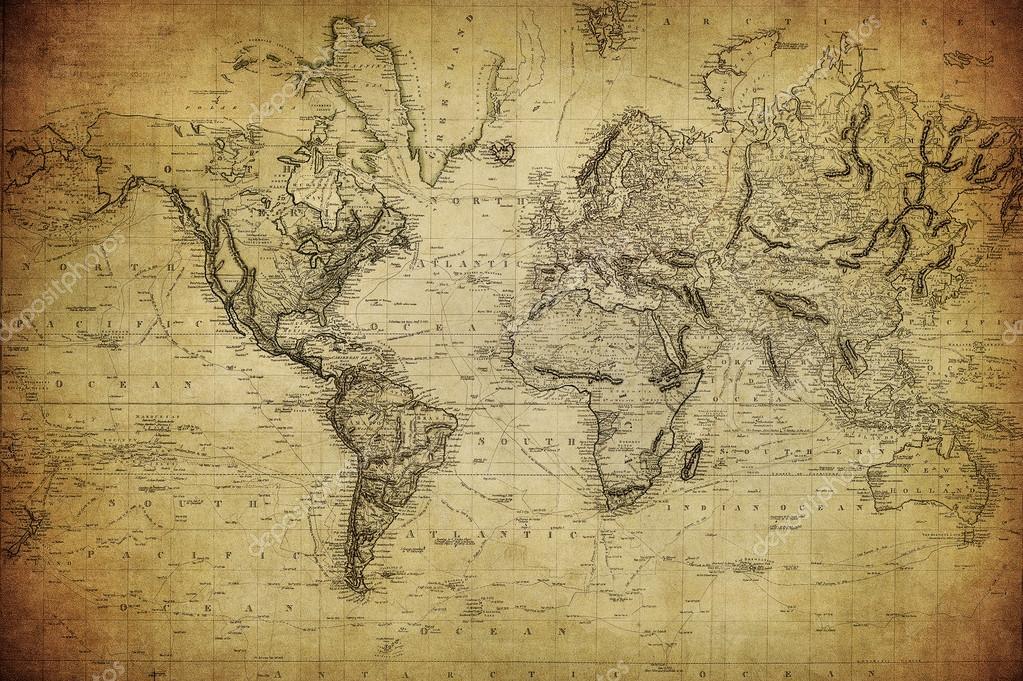 """Карта мира """"Эскиз, карандаш"""""""