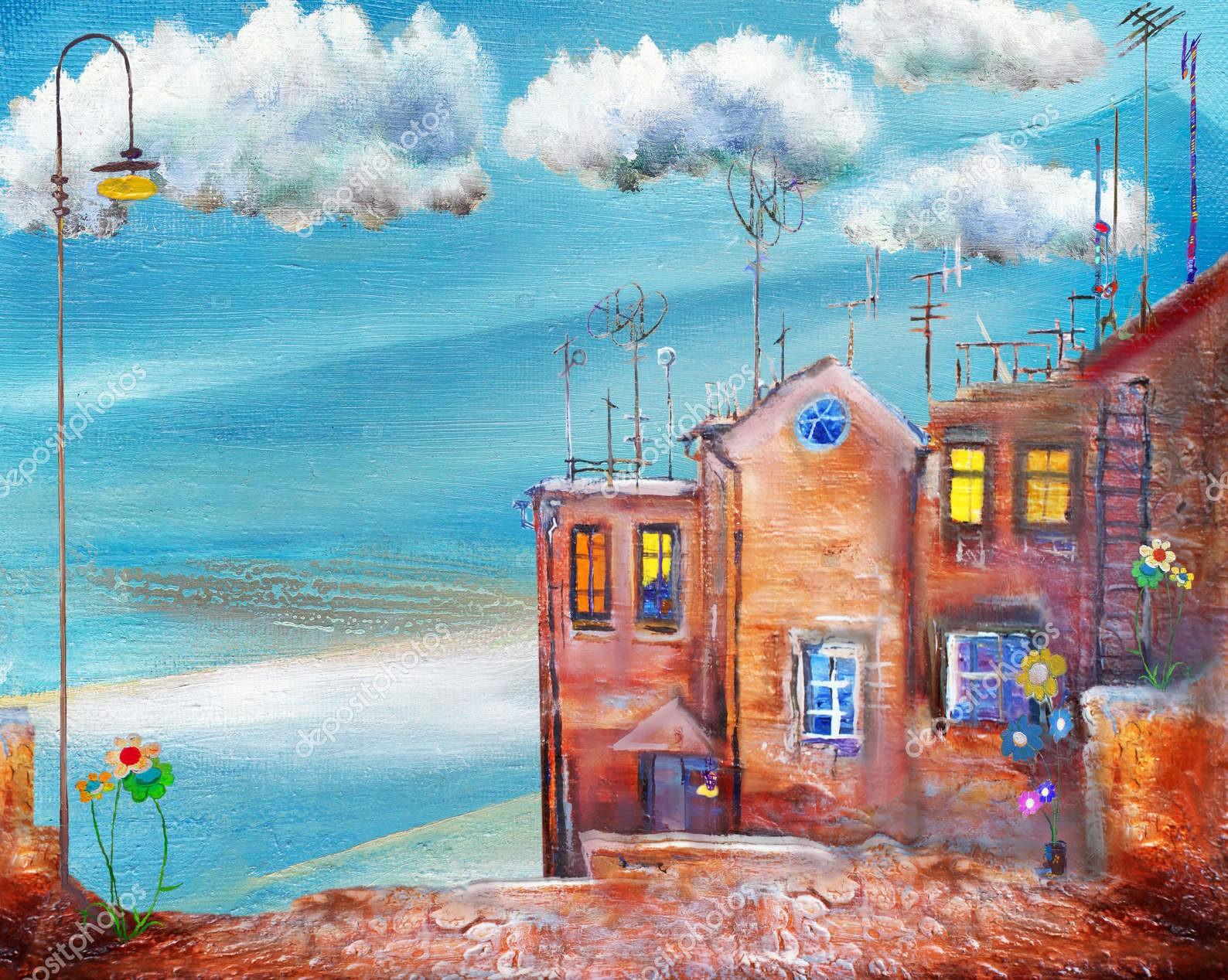 Летний курорт на берегу моря