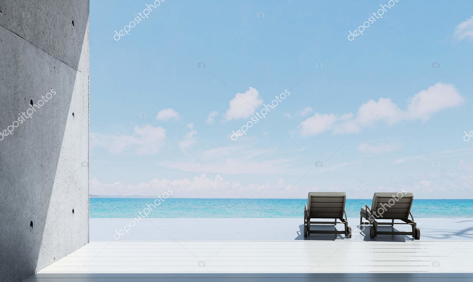 Вид на морской пейзаж