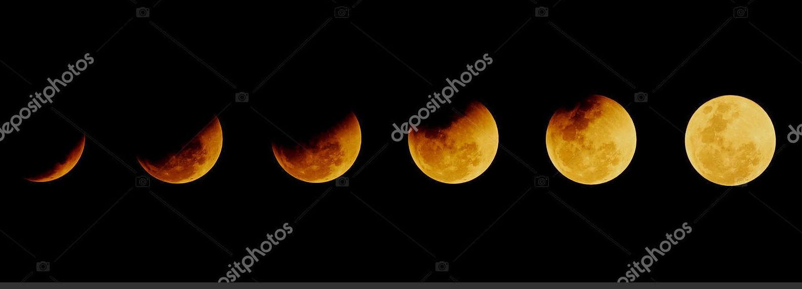 Лунное затмение, панорама
