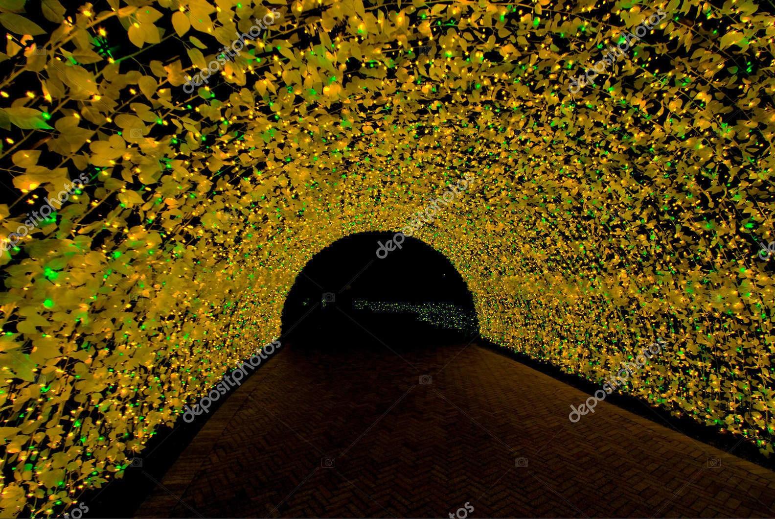 Туннель света, Япония, жёлтый