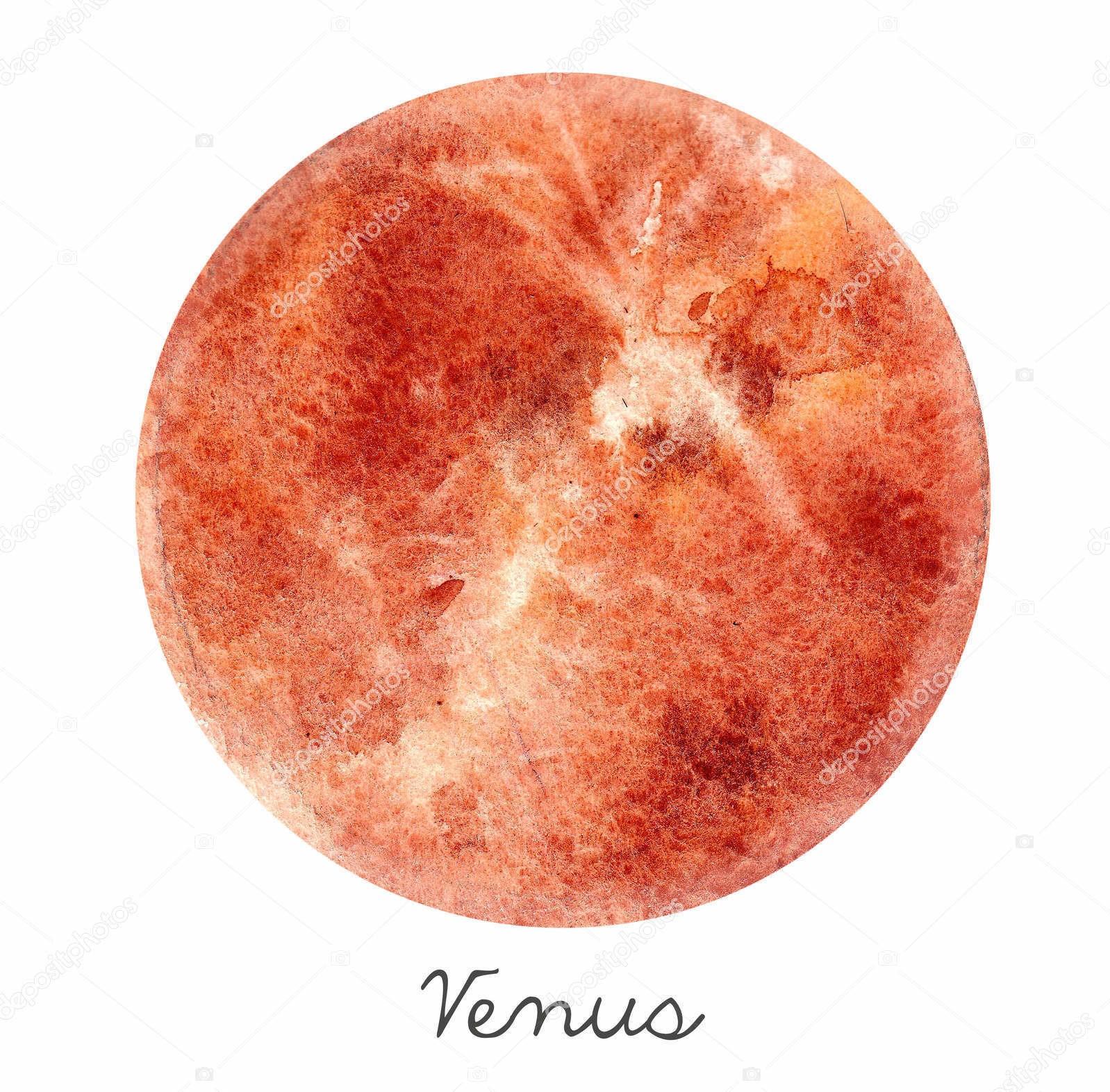 Венера, акварель