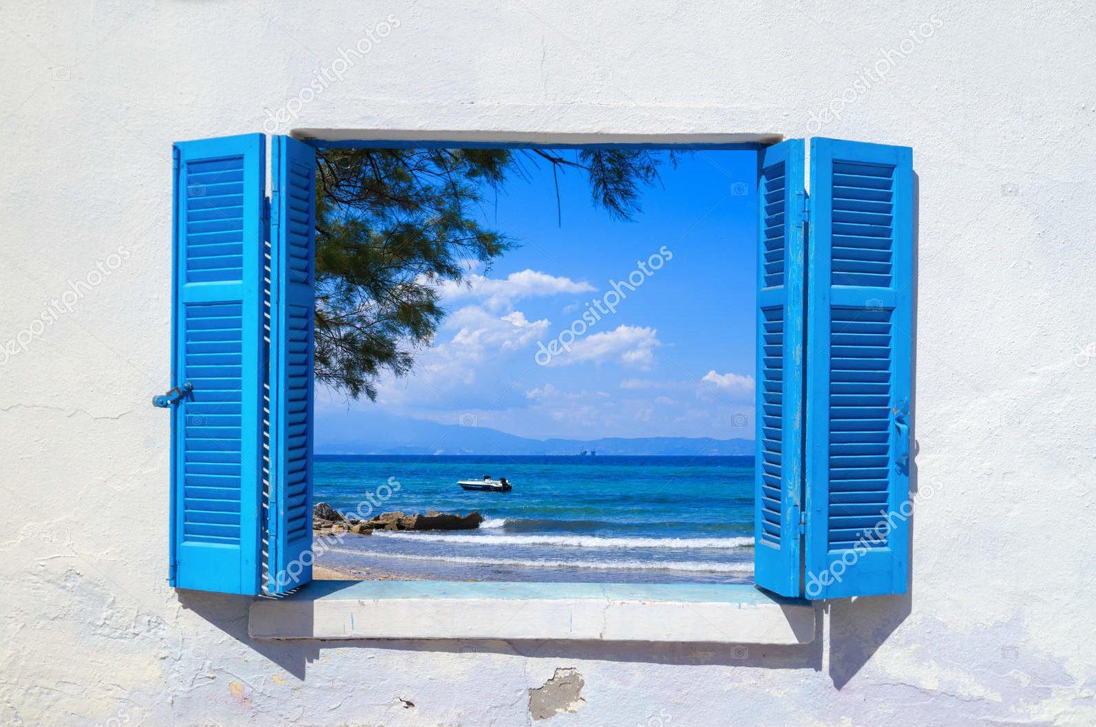 Вид на море, Греция