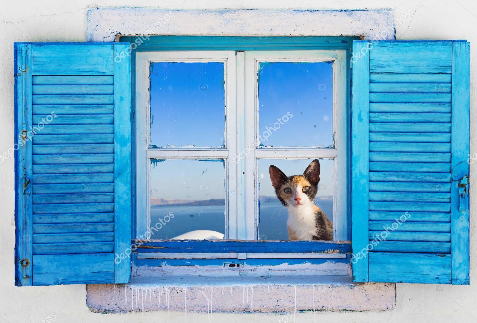 Старое греческое окно
