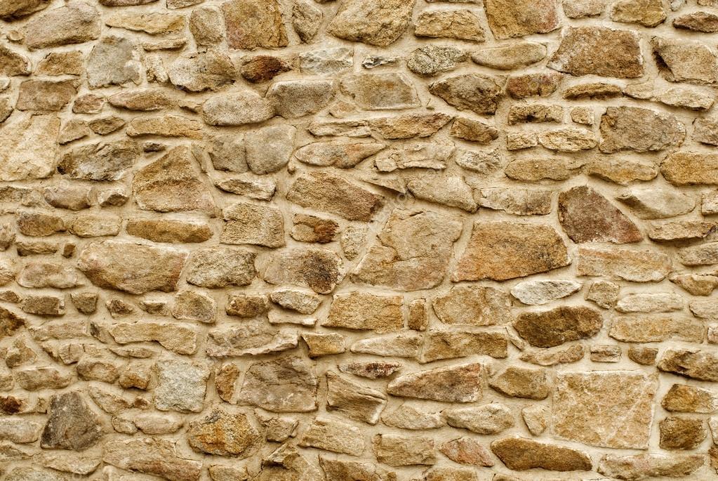 Каменная стена, оттенки коричневого