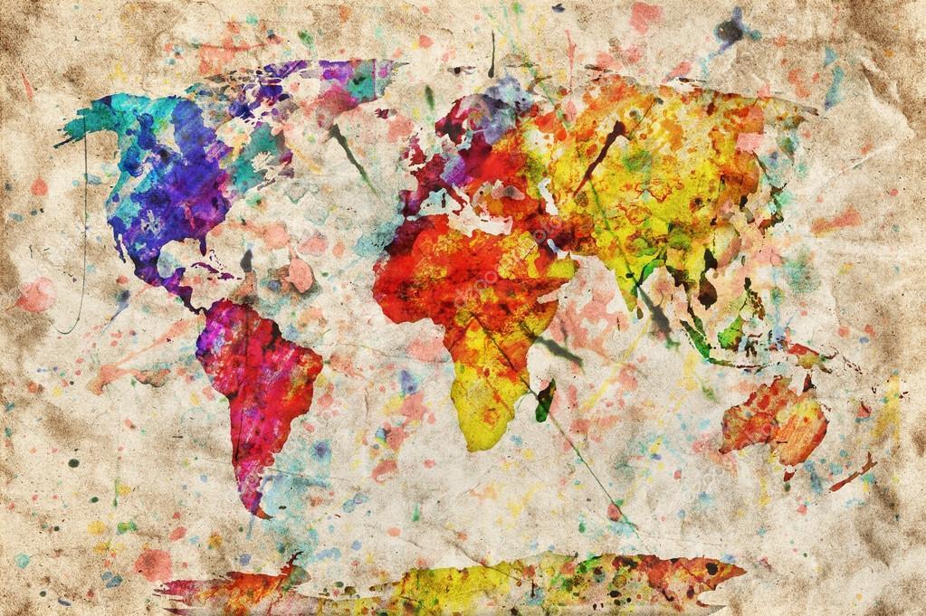 """Карта мира """"Акварель"""""""