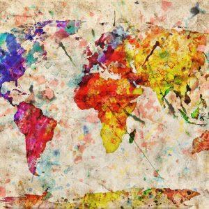 "Абстракция ""Карта мира"""