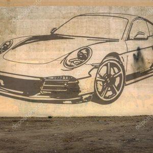 """Граффити """"Автомобиль"""""""