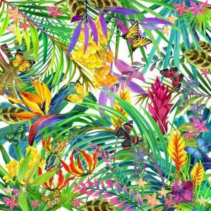 """Абстракция """"Бабочки в цветах"""""""