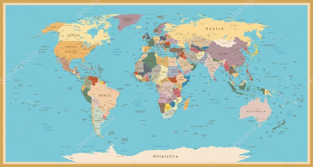Простая карта мира